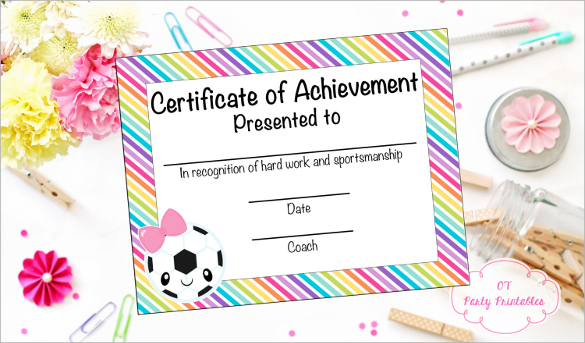 photograph about Printable Soccer Certificates identify Football-Certification-of-Achievements-printable-clean